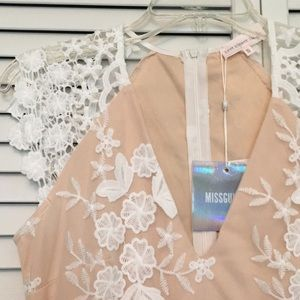 675c9ec32a3 Missguided Dresses - Missguided white and nude lace dress BRAND NEW